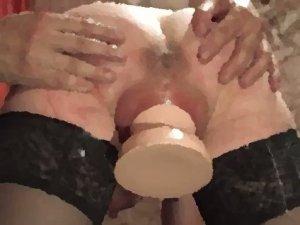 Großer Plug zum Dehnen der Vagina Pussy